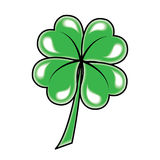 Leaf clover icon. Vector object on white Stock Photo