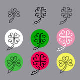 Leaf clover sign icon. Saint patrick symbol. Ecology concept. Fl Royalty Free Stock Photos