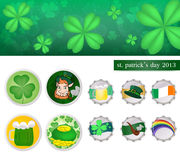 St. patrick's day 2013. Leaf clover in st.patricks day .vector is eps 10 Stock Photo