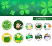 St. patrick's day 2013. Leaf clover in st.patricks day .vector is eps 10 vector illustration