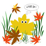Leaf confusion vector illustration