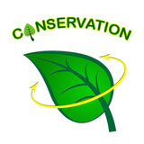 Leaf Conservation Represents Go Green And Conserving Stock Photos