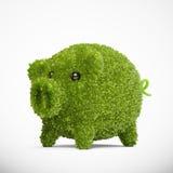 Leaf covered piggy bank stock illustration