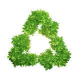 Leaf covered recycling symbol Royalty Free Stock Photo