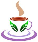 Leaf cup. Isolated illustrated logo design Stock Image
