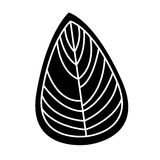 Leaf decorative drawing icon royalty free illustration