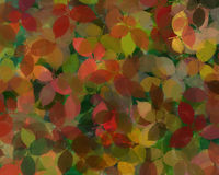 Leaf Design Background. Leaf design background, in greens and autumnal colours Stock Images