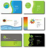 Leaf design business cards Stock Photo