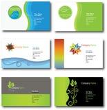 Leaf design business cards stock illustration
