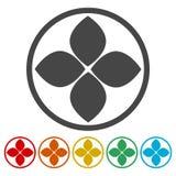 Leaf design, Leaf icon stock illustration
