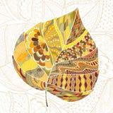 Leaf doodle. Vector autumn doodles for cards. Hand drawn artwork royalty free illustration
