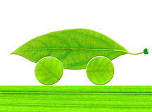 Leaf eco car Royalty Free Stock Images