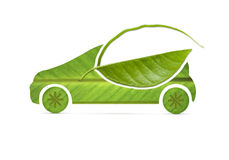 Leaf eco Car Stock Photo