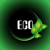 Leaf eco / ecology green icon Royalty Free Stock Photos
