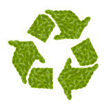 Leaf eco symbol Stock Image