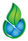 Leaf environmental icon Royalty Free Stock Photography