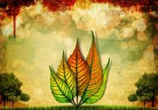 leaf för illustration för höstbakgrund härlig Royaltyfria Bilder