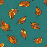 Leaf fall pattern Stock Images
