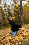 Leaf Fight! Stock Photo