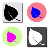 Leaf. flat vector icon stock illustration
