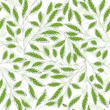 Leaf floral abstract seamless vector background Royalty Free Stock Photo