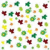 Leaf and flower background color vector Stock Images