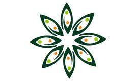 Leaf Flower Wellness. Logo Design Template Vector Stock Image