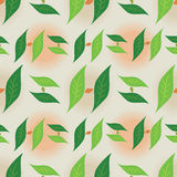 Leaf Foliage Seamless Pattern - Monogram Letter H Green and Beige Colors Stock Photos