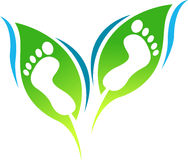 Leaf foot print Royalty Free Stock Images