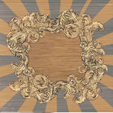 Leaf frame Royalty Free Stock Image