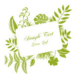 Leaf frame Royalty Free Stock Image