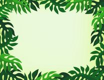 Leaf frame Royalty Free Stock Photography