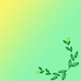 Leaf of frame. On color background Royalty Free Stock Photography
