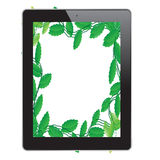 Leaf of frame. In tablet Stock Photography