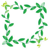 Leaf of frame. On white background Stock Photo
