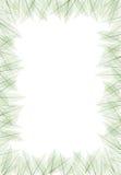 Leaf frame. Dried leaf form a frame, graphic shot vector illustration