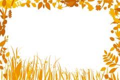 Leaf frame. Vector illustration of leaf frame. Only global colors. CMYK. Easy color changes vector illustration