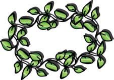 Leaf frame. Green leaf frame with shadow Royalty Free Stock Photo