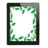 Leaf of frame on tablet. On white background Royalty Free Stock Images