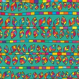 Leaf free horizontal colorful seamless pattern. This illustration is design leaf with free style with horizontal colorful in seamless pattern Stock Image