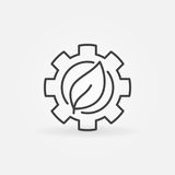 Leaf in gear icon Stock Photos