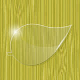 Leaf glass frame Royalty Free Stock Image
