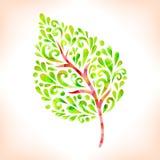 Leaf. Green abstract leaf. Vector illustration Vector Illustration