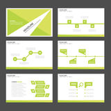 Leaf green Infographic elements icon presentation template flat design set for advertising marketing brochure flyer Royalty Free Stock Photos