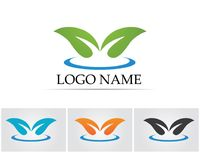 Leaf green nature logo and symbol template Vector Royalty Free Stock Photography