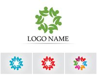 Leaf green nature logo and symbol template Vector Stock Photography