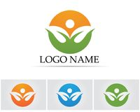 Leaf green nature logo and symbol template Vector Royalty Free Stock Images