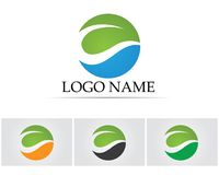 Leaf green nature logo and symbol template Vector Stock Photo