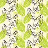 Leaf green spring pattern Stock Photos