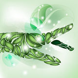 Leaf Hand focus on green without text. Ecology Royalty Free Stock Photos